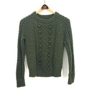 J. Crew Green Chunky Bobble Knit Sweater